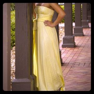 BCBG Yellow Greek Goddess Special Occasion Dress!